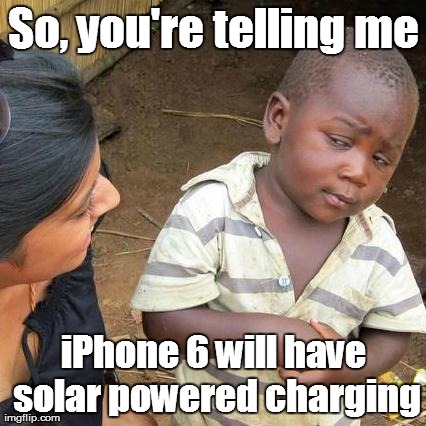 iPhone 6 will have solar powered charging